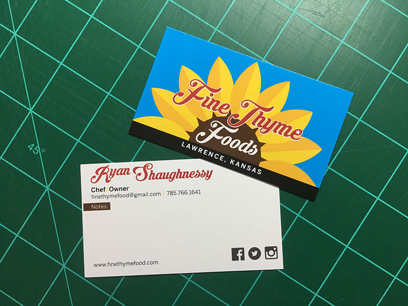 Business Card Fine Thyme Foods
